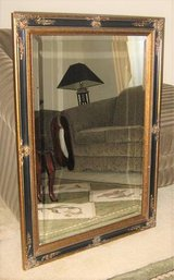 "Beautiful Ornate Wood Framed Bevelled Mirror - 30"" x 42"" in Naperville, Illinois"