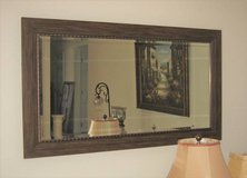 "Beautiful Large Wood Framed Bevelled Mirror - 55"" x 31"" in Naperville, Illinois"