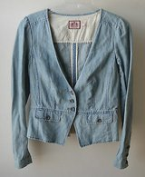 JUICY COUTURE Blue DENIM BLAZER JACKET - SZ S in Bolingbrook, Illinois