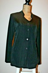 Chico's Travelers Black Button Front Knit Cardigan or Blouse, Chico's Sz 1/Med in Aurora, Illinois
