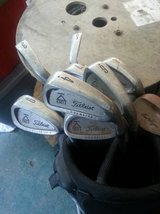 Titlist Golf Clubs with Black Bag in Houston, Texas