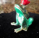 prince charming noble frog limoge style enameled metal trinket box ! in Alamogordo, New Mexico
