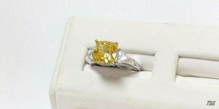sterling silver  yellow cubic zirconia,  size 5 1/4 in Camp Lejeune, North Carolina