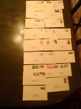 41 us postage stamps on 23 envelopes take a look in Alamogordo, New Mexico
