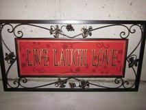 Metal Live Love Laugh Wall Art in Algonquin, Illinois