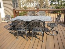 Cast Aluminum TUSCANY Patio Set - Table & 6 Chairs - HANAMINT in Plainfield, Illinois