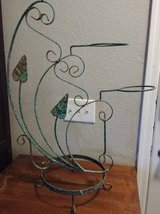 Scroll work rustic wrought Iron Candle Holder Large in Phoenix, Arizona