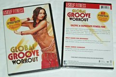 NEW Global Groove DVD 2 Workouts Belly Dance Salsa Cardio Erotic Fitness in Oswego, Illinois