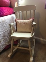 beautiful acme furniture style  kids wooden rocking chair white in Kingwood, Texas