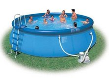 16' X 3.5' Easy set inflatable pool with pump and ladder in Cary, North Carolina