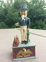 Uncle Sam Cast Iron Mechanical Coin Bank in Cary, North Carolina