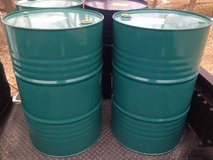 55 Gallon Steel Drums / Barrels For Wood Stove / Burn / Grill Smoker in Bartlett, Illinois