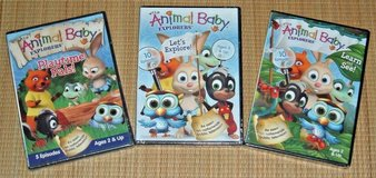 NEW Wild Animal Baby Explorers DVD Lot 25 Episodes Learn See Playtime Pals in Plainfield, Illinois