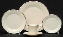 PRICED TO SELL!!!  dinnerware service for 13 (less one saucer) - Lenox Moonspun in Fort Belvoir, Virginia