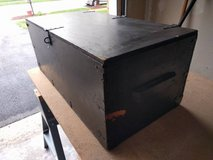 Vintage Wooden Military Footlocker with tray in Batavia, Illinois