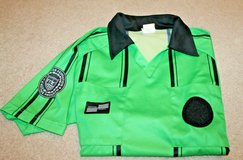 Official Sports International Soccer Referee Short Sleeve Jersey, Green/Black, Small in Naperville, Illinois