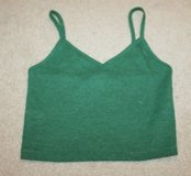 Forever 21 Cropped Tank, Green Ribbed,  Small in Glendale Heights, Illinois