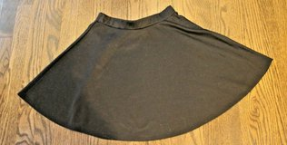 Abound Black Polyester Blend Knit Skater Skirt, Elastic Waist, Small in Glendale Heights, Illinois