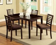 New! Expresso Table and 4 Chairs 5 Piece Dining Set FREE DELIVERY in Camp Pendleton, California