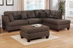 New! Brown Sectional Sofa+Ottoman FREE DELIVERY in Miramar, California