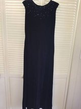 Beautiful full length dark blue beaded dress in Camp Pendleton, California