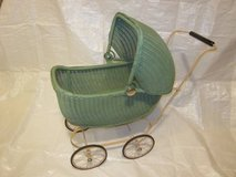 Lloyd Loom Products Wicker Doll Buggy Carriage Stroller ~ VINTAGE EXC in Oswego, Illinois