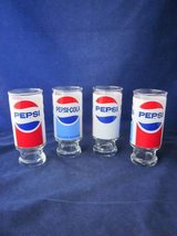 Pepsi Glasses 12 oz. Footed Tumblers Set of 4 VINTAGE in Chicago, Illinois