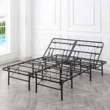 Adjustable Platform 14-Inch Metal Bed Frame King Size - New! in Joliet, Illinois