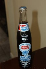 DALLAS COWBOYS Pepsi Cola Superbowl Unopen Bottle 1971 NFL Football Wo in Houston, Texas