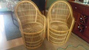 Pair of Wicker Peacock Chairs in Kingwood, Texas