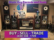 Wanted Vintage Audio equipment and Media in Bartlett, Illinois