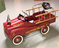 Vintage Gearbox Child's Fire Truck Pedal Car in Naperville, Illinois