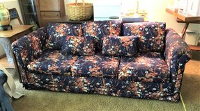 Sofa Sleeper - Queen Size - Floral Fabric in Naperville, Illinois