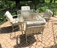 Patio Furniture Set - Table, 4 Chairs, Glider & Chaise in St. Charles, Illinois