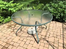 """48"""" Round Patio Table with Glass Top (no chairs) in Glendale Heights, Illinois"""