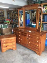 Kincaid Solid wood dresser with mirror and night stand in New Lenox, Illinois