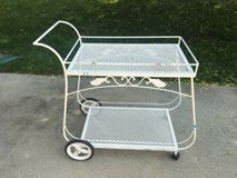 Antique/vtg Mid Century Salterini wrought iron serving (rolling) bar tea cart in Fairfax, Virginia