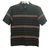 Nike Fit Dry Tiger Woods Collection Striped Golf Polo Shirt Mens Small in Shorewood, Illinois