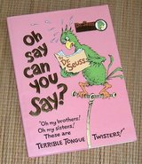 Vintage 1979 Dr Seuss Oh Say Can You Say Collectort Edition Hard Cover Book w DJ in Plainfield, Illinois