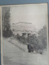 Don Swann etching of USNA Bancroft Hall and Smoke Park # 263 of 300 in Quantico, Virginia