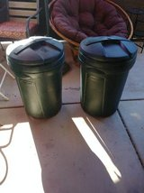 Two 20 gallon Rubbermaid trash cans in Phoenix, Arizona