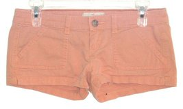 Hollister Pale Orange Short Shorts Button Flap Pockets Womens 0 Ultra Low Stretch in Morris, Illinois