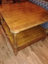 Solid wood end table with shelve and drawer in Phoenix, Arizona
