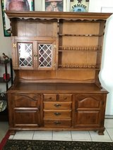 large vintage sprague & carleton buffet cabinet and hutch in Tomball, Texas