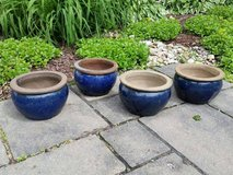 Ceramic Blue Glazed Pots in Orland Park, Illinois