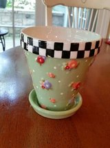 Ceramic Pot and Saucer - Mary Engelbreit in Orland Park, Illinois