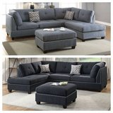 New! Linen Gray Sectional + Ottoman FREE DELIVERY in Camp Pendleton, California