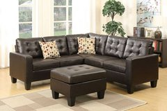 New! Espresso Modular Sectional +Ottoman Sofa FREE DELIVERY in Camp Pendleton, California
