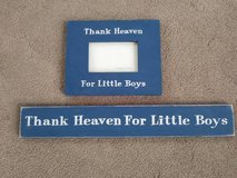 Thank Heaven for Little Boys Wall Plaque / Frame LOT in Camp Pendleton, California