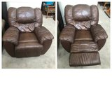 Ashley Furniture Brown Leather Manual Recliner in Joliet, Illinois